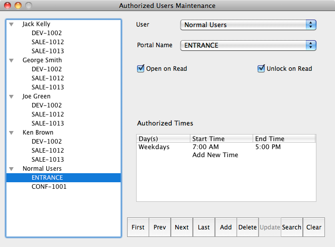 Authorizing Users OS X